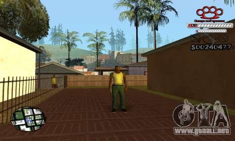 C-HUD Gangster by NickQuest para GTA San Andreas sucesivamente de pantalla
