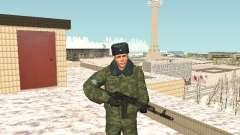 Militar en el uniforme de invierno