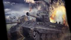 Menú de World of Tanks