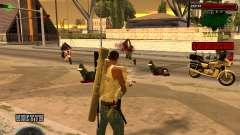 C-HUD Grove St para GTA San Andreas