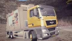 MAN TGS 18.320 Trash Truck para GTA San Andreas