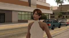 Chica de vestido blanco para GTA San Andreas