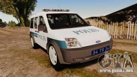 Ford Transit Connect Turkish Police [ELS] v2.0 para GTA 4