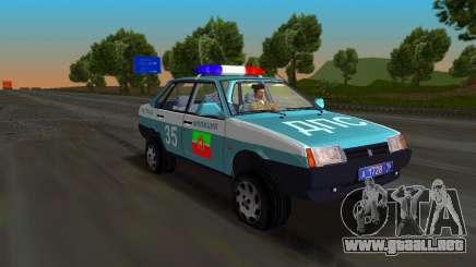VAZ 21099 milicia para GTA Vice City