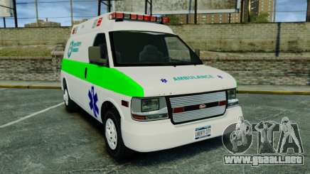 Vapid Speedo Rural Metro EMS [ELS] para GTA 4