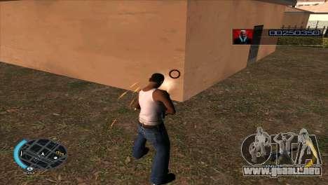 C-HUD Hitman Absolution para GTA San Andreas sucesivamente de pantalla