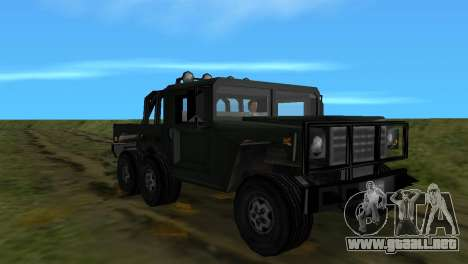 Patriot 6x6 para GTA Vice City vista lateral izquierdo