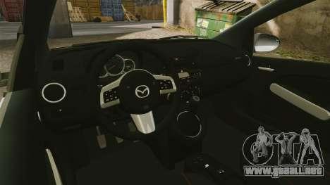 Mazda 2 Pizza Delivery 2011 para GTA 4 vista interior