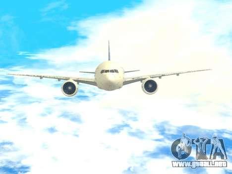 Boeing 777 LAN Cargo para la vista superior GTA San Andreas