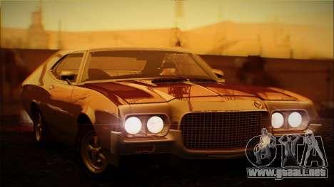 Ford Gran Torino De 1972 para visión interna GTA San Andreas
