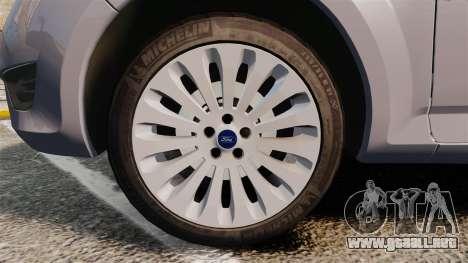 Ford Mondeo Hungarian Police [ELS] para GTA 4 vista hacia atrás
