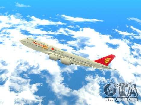Boeing 747 Air China para GTA San Andreas left