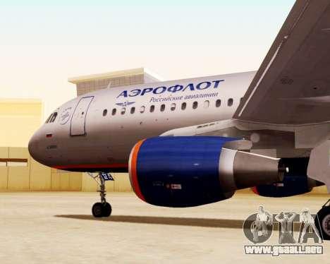 Airbus A320-200 De Aeroflot para la visión correcta GTA San Andreas