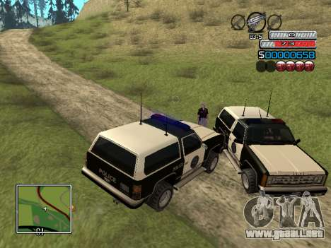 El nuevo C-HUD para GTA San Andreas sexta pantalla