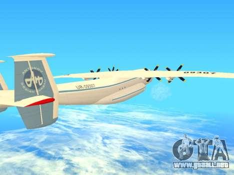 An-22 Antei para la vista superior GTA San Andreas