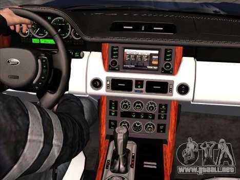 Land Rover Supercharged Stock 2010 V2.0 para visión interna GTA San Andreas