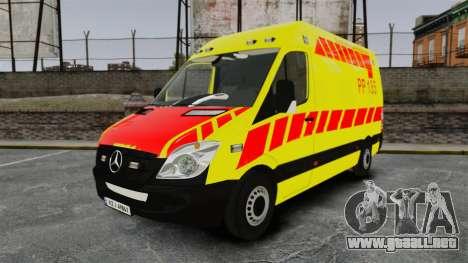 Mercedes-Benz Sprinter Finnish Ambulance [ELS] para GTA 4