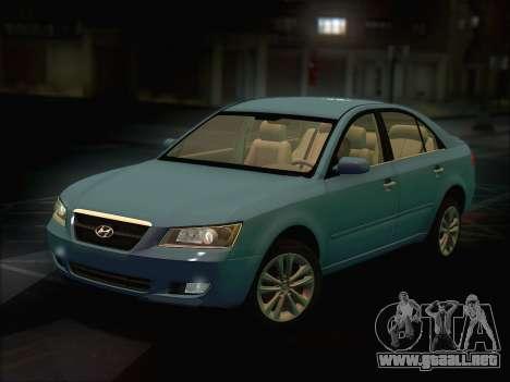Hyundai Sonata 2009 para GTA San Andreas vista posterior izquierda