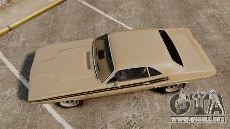 Dodge Challenger RT 1972 para GTA 4 visión correcta