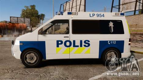 Volkswagen Transporter T5 TDI POLIISI [ELS] para GTA 4 left