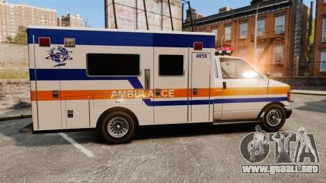 Brute CHMC Ambulance para GTA 4 left