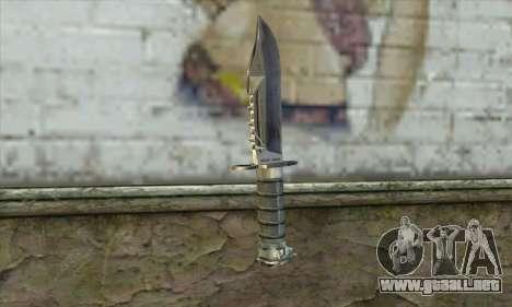 El cuchillo de Stalker para GTA San Andreas segunda pantalla