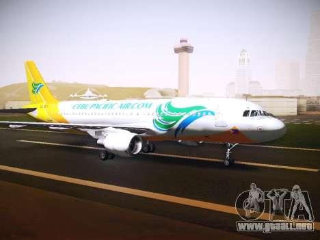 Airbus A320 Cebu Pacific Air para GTA San Andreas left
