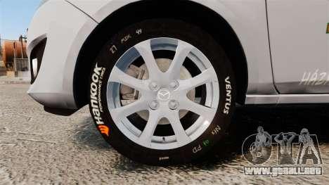 Mazda 2 Pizza Delivery 2011 para GTA 4 vista hacia atrás