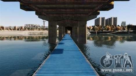 La carretera por debajo del puente para GTA 4