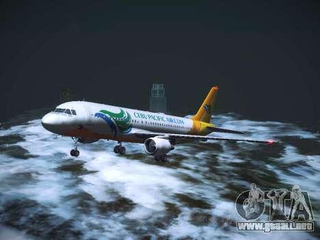 Airbus A320 Cebu Pacific Air para la vista superior GTA San Andreas