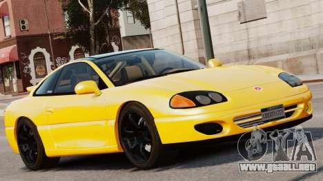 Dodge Stealth Turbo RT 1996 para GTA 4 Vista posterior izquierda