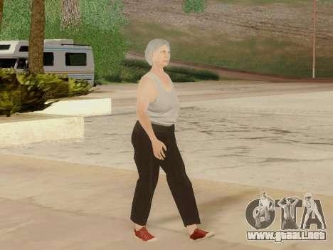 Mujer de edad avanzada para GTA San Andreas séptima pantalla