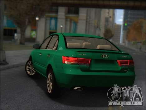 Hyundai Sonata 2009 para GTA San Andreas vista hacia atrás