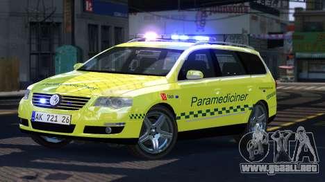 Volkswagen Passat Variant 2010 Paramedic [ELS] para GTA 4
