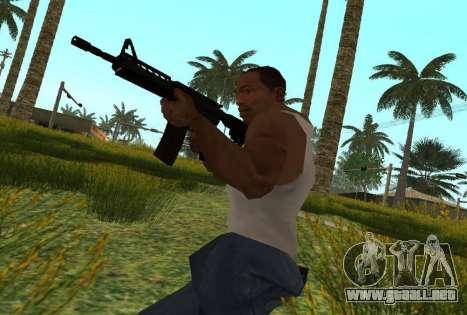 M4 CQB para GTA San Andreas sucesivamente de pantalla