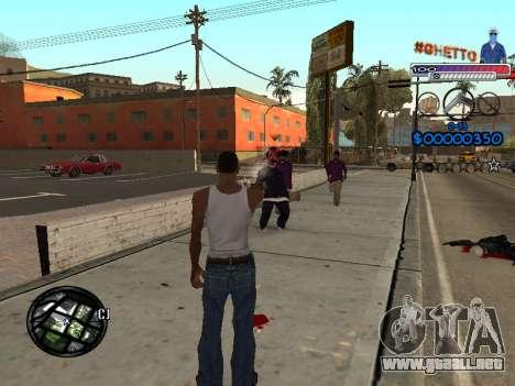 El nuevo C-HUD Ghetto para GTA San Andreas tercera pantalla