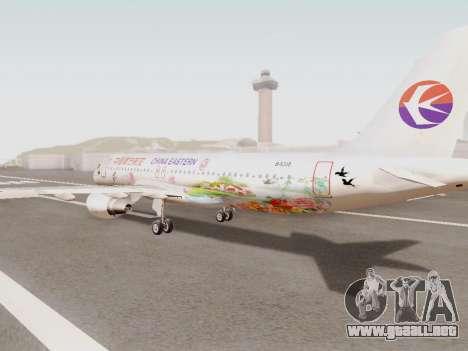 Airbus A320-211 China Eastern para GTA San Andreas vista posterior izquierda