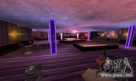 Retexture Jizzy, Alhambra, Pig Pen para GTA San Andreas sucesivamente de pantalla