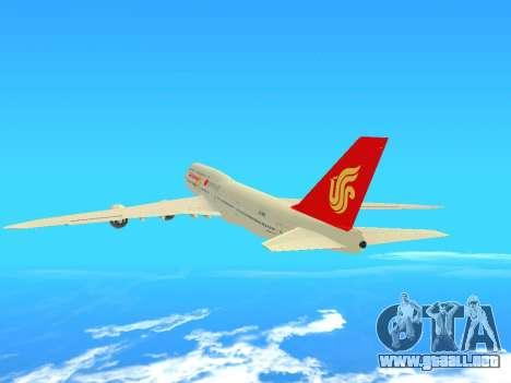 Boeing 747 Air China para GTA San Andreas vista hacia atrás