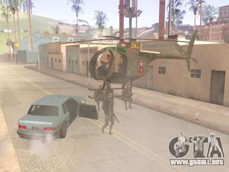 OH-6 Cayuse para GTA San Andreas vista hacia atrás
