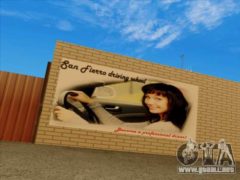 Actualizado texturas de la escuela de conducción para GTA San Andreas segunda pantalla