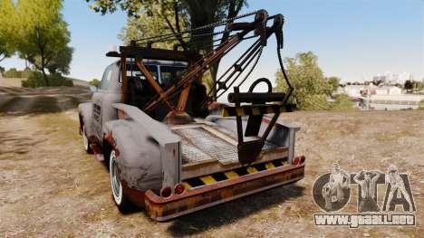 GTA IV TLAD Vapid Tow Truck para GTA 4 Vista posterior izquierda