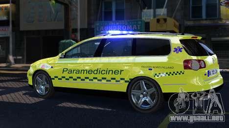 Volkswagen Passat Variant 2010 Paramedic [ELS] para GTA 4 left