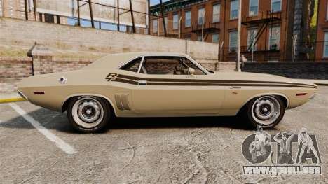 Dodge Challenger RT 1972 para GTA 4 left
