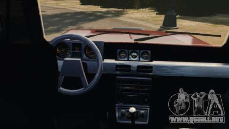 Mitsubishi Pajero I WAGON para GTA 4 vista interior