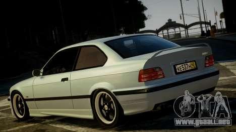BMW M3 E36 328i para GTA 4 Vista posterior izquierda