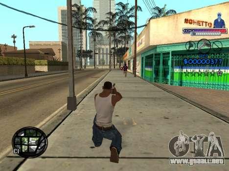 El nuevo C-HUD Ghetto para GTA San Andreas sexta pantalla