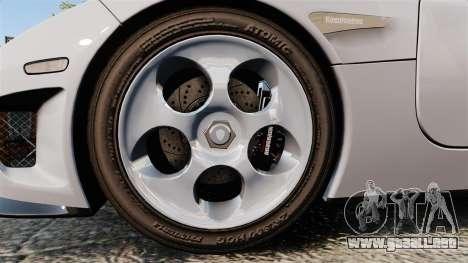 Koenigsegg CCX para GTA 4 vista hacia atrás