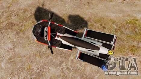 El portugués motocicleta de la policía [ELS] para GTA 4 Vista posterior izquierda
