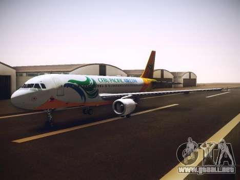 Airbus A320 Cebu Pacific Air para visión interna GTA San Andreas